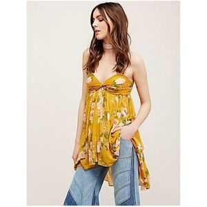 Free People Yellow Floral Mirage convertible tunic